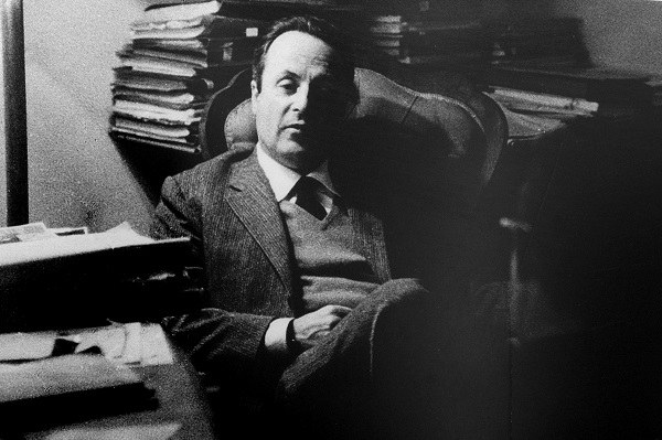 Giorgio Bassani nel suo studio, ph. Andrea Samaritani