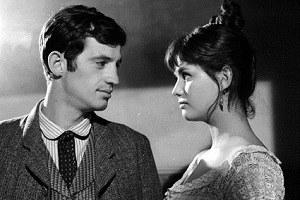 """"""" La viaccia"""" di Mauro Bolognini (1961), Jean-Paul Belmondo e Claudia Cardinale [ph. Huguette Ronald]"""