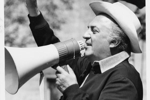 Federico Fellini - ph Biblioteca Gambalunga di Rimini