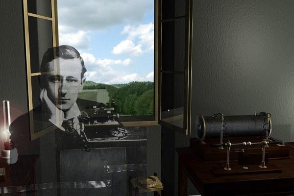 window of Villa Griffone