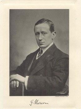 Guglielmo Marconi, ritratto con firma