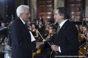 Mattarella e Muti, foto archivio Presidenza della Repubblica