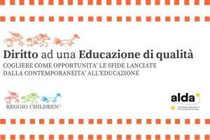 """""""Diritto ad una Educazione di qualità"""" con Reggio Children"""